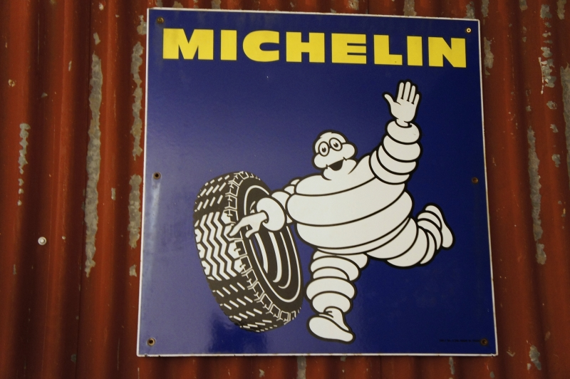 Vintage Industrial Enamel Sign