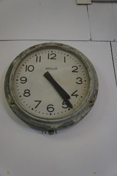 Sold Large 1940 39 S Brillie Train Station Clock