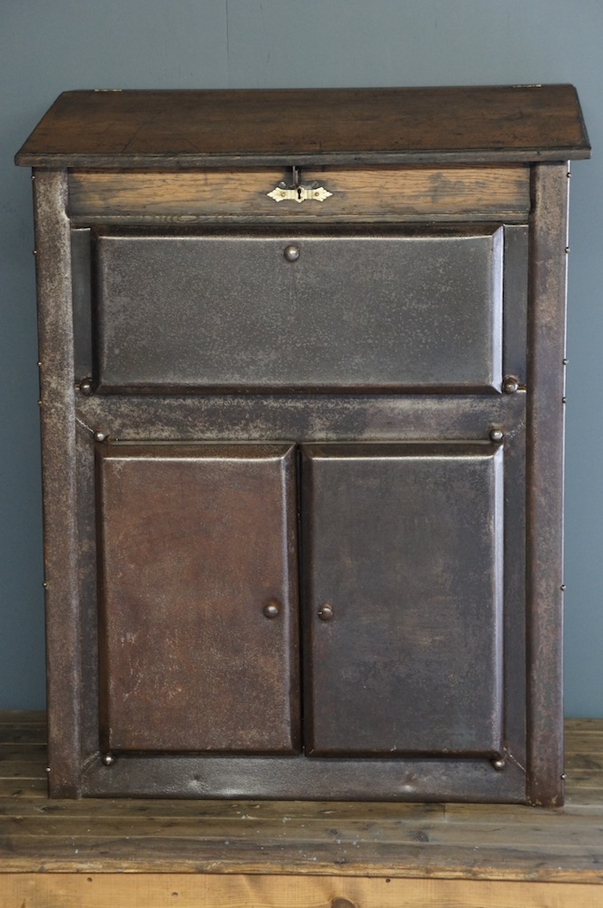 Sold industrial metal and wood cabinet for Wood and metal cabinets