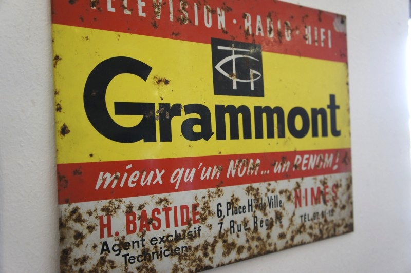 Grammont-tin-sign-French-vintage