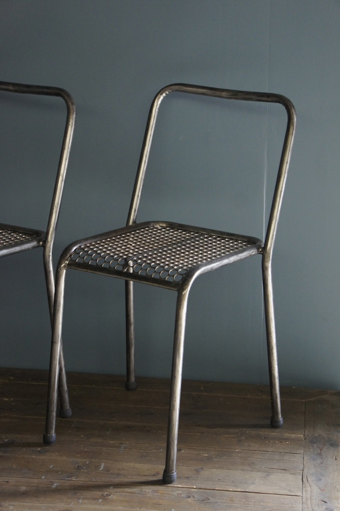 seating 1950 s cafe chair by rené malaval metal finish