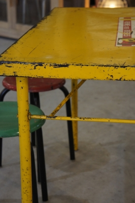 french-cafe-table-folding-metal-industrial-furniture-so-vintage-yellow-4
