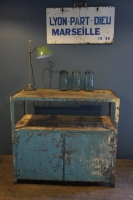 french-industrial-metal-wood-france-metal-cabinet-storage-wood-pine-top-shelves