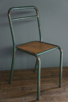 Vintage School Chairs   Green