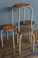 french-vintage-industrial-chic-stools-seats-side-table-nz