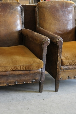pair-antique-leather-armchairs-french-country-vintage-club-chairs-nz--