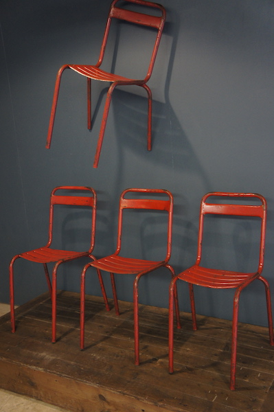 seating 1950 s stackable cafe metal chair
