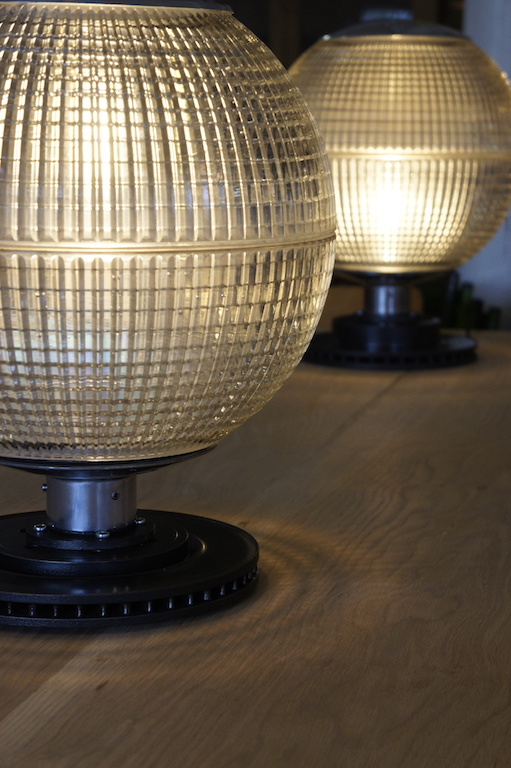 Sold Large Mid Century Holophane Glass Light